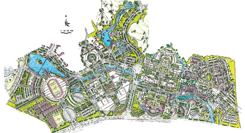 中心城区的城市设计_绿化及小品布置图_总图_供应信息